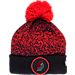 Front view of New Era Portland Trail Blazers NBA On Court Collection Pom Knit Hat in Team Colors