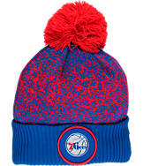 New Era Philadelphia 76ers NBA On Court Collection Pom Knit Hat