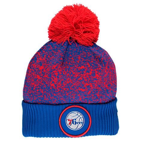 New Era Philadelphia 76ers NBA On Court Collection Pom Knit Hat