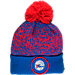 Front view of New Era Philadelphia 76ers NBA On Court Collection Pom Knit Hat in Team Colors