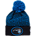 Front view of New Era Orlando Magic NBA On Court Collection Pom Knit Hat in Team Colors