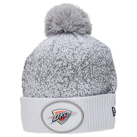 New Era Oklahoma City Thunder NBA On Court Collection Pom Knit Hat