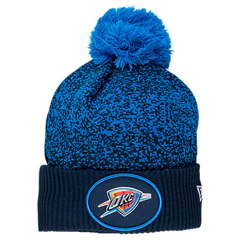 New Era Oklahoma City Thunder NBA On Court Collection Pom Knit Hat