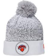 New Era New York Knicks NBA On Court Collection Pom Knit Hat