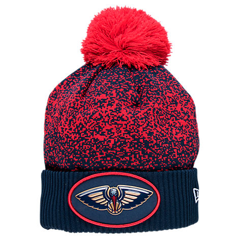 New Era New Orleans Pelicans NBA On Court Collection Pom Knit Hat