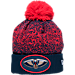 Front view of New Era New Orleans Pelicans NBA On Court Collection Pom Knit Hat in Team Colors