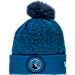 Front view of New Era Minnesota Timberwolves NBA On Court Collection Pom Knit Hat in Team Colors