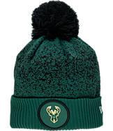 New Era Milwaukee Bucks NBA On Court Collection Pom Knit Hat