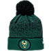 Front view of New Era Milwaukee Bucks NBA On Court Collection Pom Knit Hat in Team Colors