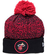 New Era Miami Heat NBA On Court Collection Pom Knit Hat