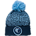 Front view of New Era Memphis Grizzlies NBA On Court Collection Pom Knit Hat in Team Colors
