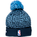 Back view of New Era Memphis Grizzlies NBA On Court Collection Pom Knit Hat in Team Colors