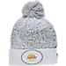 Front view of New Era Los Angeles Lakers NBA On Court Collection Pom Knit Hat in White