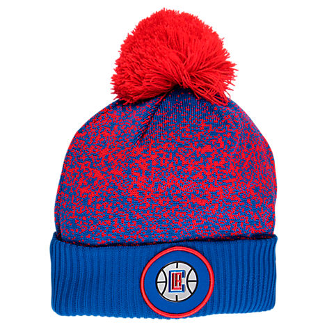 New Era Los Angeles Clippers NBA On Court Collection Pom Knit Hat