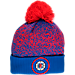 Front view of New Era Los Angeles Clippers NBA On Court Collection Pom Knit Hat in Team Colors