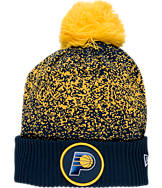 New Era Indiana Pacers NBA On Court Collection Pom Knit Hat