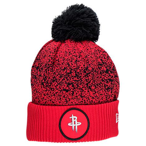 New Era Houston Rockets NBA On Court Collection Pom Knit Hat