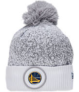 New Era Golden State Warriors NBA On Court Collection Pom Knit Hat