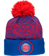 New Era Detroit Pistons NBA On Court Collection Pom Knit Hat