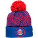 Front view of New Era Detroit Pistons NBA On Court Collection Pom Knit Hat in Team Colors