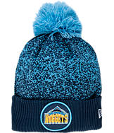 New Era Denver Nuggets NBA On Court Collection Pom Knit Hat