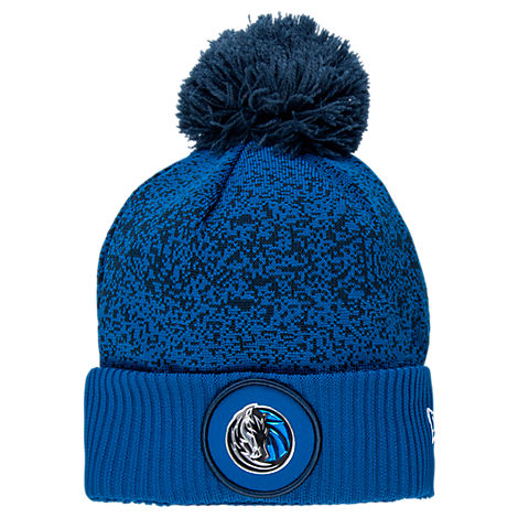 New Era Dallas Mavericks NBA On Court Collection Pom Knit Hat