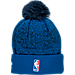 Back view of New Era Dallas Mavericks NBA On Court Collection Pom Knit Hat in Team Colors