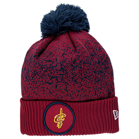 New Era Cleveland Cavaliers NBA On Court Collection Pom Knit Hat