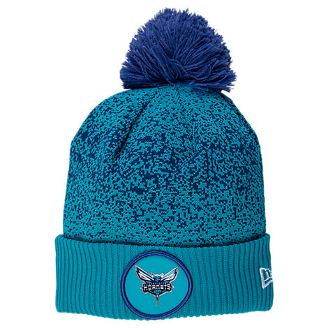 New Era Charlotte Hornets NBA On Court Collection Pom Knit Hat