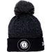 Front view of New Era Brooklyn Nets NBA On Court Collection Pom Knit Hat in Team Colors