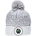 Front view of New Era Boston Celtics NBA On Court Collection Pom Knit Hat in White