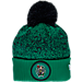 Front view of New Era Boston Celtics NBA On Court Collection Pom Knit Hat in Team Colors