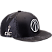 Front view of New Era Washington Wizards NBA 2017 Draft Official On Court Collection 9FIFTY Snapback Hat in Graphite/Silver