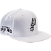 Front view of New Era San Antonio Spurs NBA 2017 Draft Official On Court Collection 9FIFTY Snapback Hat in White
