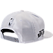 Back view of New Era San Antonio Spurs NBA 2017 Draft Official On Court Collection 9FIFTY Snapback Hat in White