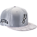 Front view of New Era San Antonio Spurs NBA 2017 Draft Official On Court Collection 9FIFTY Snapback Hat in
