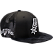 Front view of New Era San Antonio Spurs NBA 2017 Draft Official On Court Collection 9FIFTY Snapback Hat in Team Colors