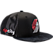 Front view of New Era Portland Trail Blazers NBA 2017 Draft Official On Court Collection 9FIFTY Snapback Hat in Team Colors