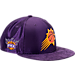 Front view of New Era Phoenix Suns NBA 2017 Draft Official On Court Collection 9FIFTY Snapback Hat in Team Colors