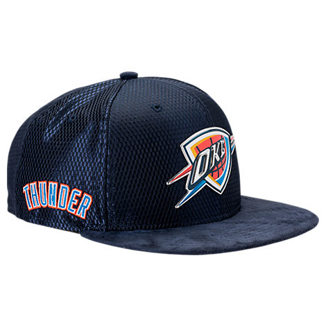 New Era Oklahoma City Thunder NBA 2017 Draft Official On Court Collection 9FIFTY Snapback Hat