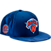 Front view of New Era New York Knicks NBA 2017 Draft Official On Court Collection 9FIFTY Snapback Hat in Team Colors