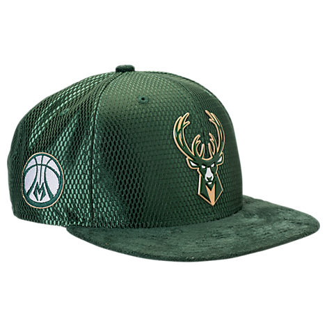 New Era Milwaukee Bucks NBA 2017 Draft Official On Court Collection 9FIFTY Snapback Hat