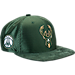 Front view of New Era Milwaukee Bucks NBA 2017 Draft Official On Court Collection 9FIFTY Snapback Hat in Team Colors