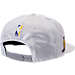 Back view of New Era Los Angeles Lakers NBA 2017 Draft Official On Court Collection 9FIFTY Snapback Hat in White