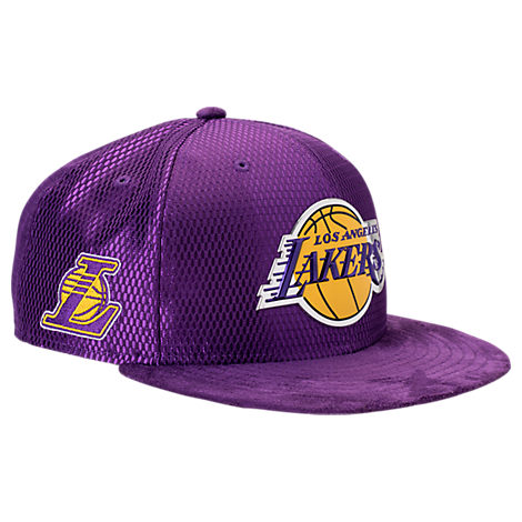 New Era Los Angeles Lakers NBA 2017 Draft Official On Court Collection 9FIFTY Snapback Hat