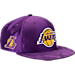Front view of New Era Los Angeles Lakers NBA 2017 Draft Official On Court Collection 9FIFTY Snapback Hat in Team Colors