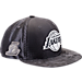 Front view of New Era Los Angeles Lakers NBA 2017 Draft Official On Court Collection 9FIFTY Snapback Hat in Graphite/Silver