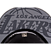 Back view of New Era Los Angeles Lakers NBA 2017 Draft Official On Court Collection 9FIFTY Snapback Hat in Graphite/Silver