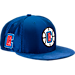 Front view of New Era Los Angeles Clippers NBA 2017 Draft Official On Court Collection 9FIFTY Snapback Hat in Team Colors