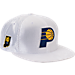 Front view of New Era Indiana Pacers NBA 2017 Draft Official On Court Collection 9FIFTY Snapback Hat in White